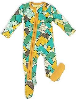 Earthy Organic Baby Pajamas 2-Way Zipper Sleeper Boy Girl (9 Sizes: Preemie - 3T) 100% Organic Cotton