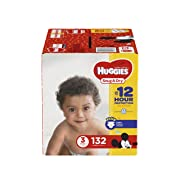 HUGGIES Snug & Dry Diapers, Size 3, 132 Count, GIGA JR PACK (Packaging May Vary)