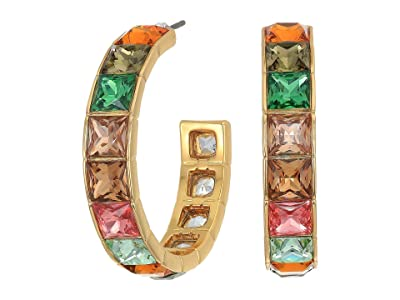 J.Crew Princess Square Hoop Earrings (Multicolor) Earring