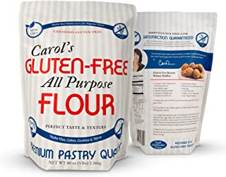 Carol's Gluten Free Flour All Purpose 1 to 1 for Bread Baking, Pizza Dough, Cookie mix, Gluten Free Snacks | a Dairy Free ...