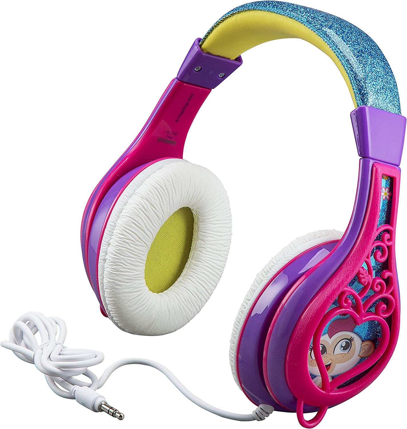 Fingerlings Headphones for Kids with Built in Volume Limiting Feature for Kid Friendly Safe Listening