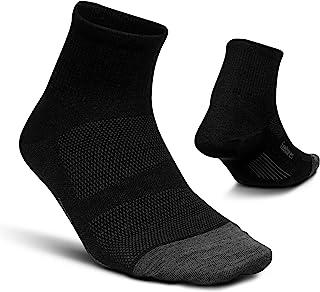 comprar comparacion Feetures - Merino 10 Ultra Light - Quarter - Calcetines deportivos para hombres y mujeres - Antacita