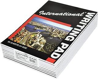 10-Piece FIS International Writing Pads, Single Ruled, A4 Size (80 Sheets x 10 Pcs) - FSPDA4INT5