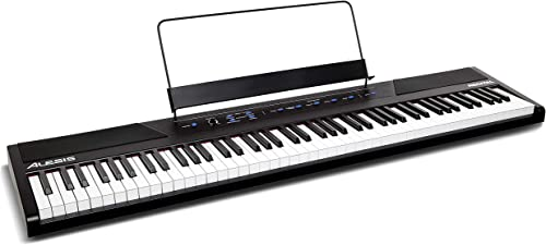 Alesis Recital | 88 Key Beginner Digital Piano / Keyboard with Full Size Semi Weighted Keys, Power Supply, Built In S...