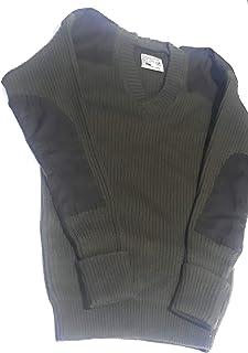 Army Uniform Jersey Woolen Ribbed V Neck