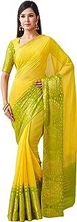 MIMOSA Chiffon Saree Color: Yellow (4504-2200-2D-GLD-OLV)