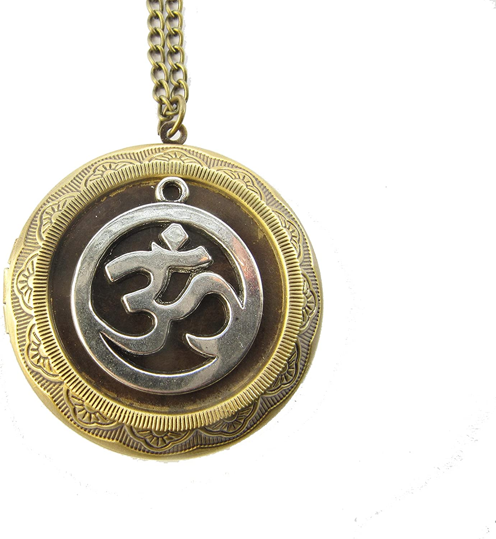 Om Locket Necklace, Ohm Locket, Om Locket, Spiritual Jewelry, Yoga Jewelry, Om Pendant, Yoga Locket
