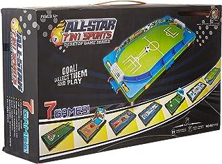 Eurosafe 7 IN 1 Tabletop Desktop Games, Air Hockey, Bowling, Snooker, Basketball, Golf Soccer, Table Top Target Game Set, ...