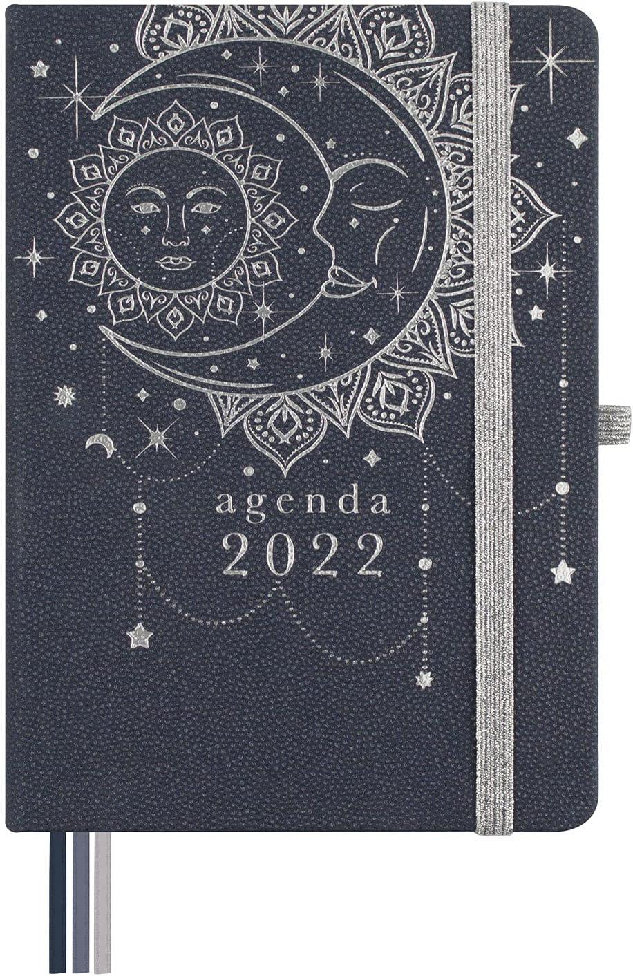 Finocam - Agenda 2022 Semana Vista Apaisada, de Octubre 2021 a Diciembre 2022 (15 meses) M4 - 118 x 168 mm Mínimal Design Moon Español