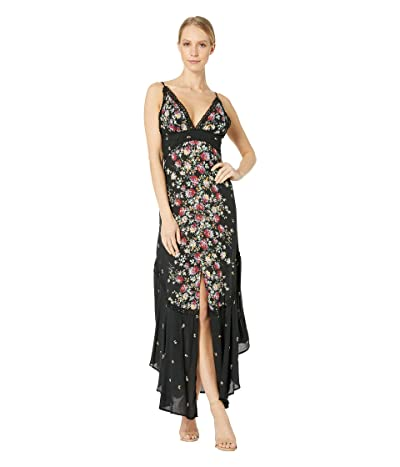 Free People Paradise Printed Maxi (Black) Women