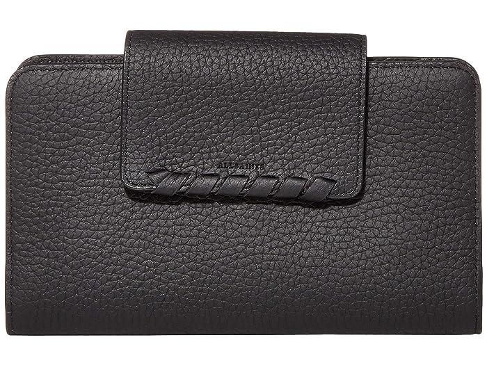 AllSaints  Kita Japanese Wallet (Black) Handbags