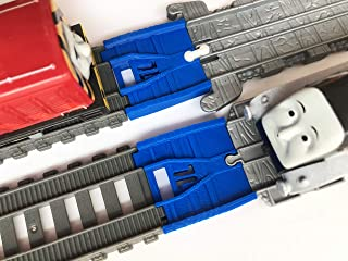 TrainLab Take-n-Play to Trackmaster (2014) Train Track Adapter for Thomas and Friends Railway (Blue)