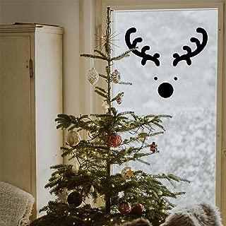 Vinyl Wall Art Decal - Reindeer Face - 20