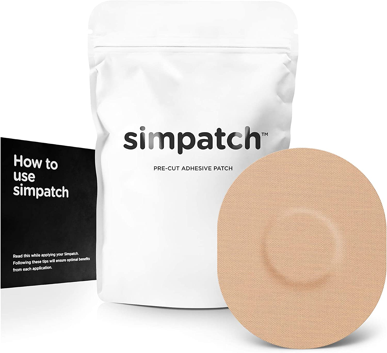 SIMPATCH Adhesive Patch for Medtronic Enlite FreeStyle Libre - Pack of 20 - Available in 4 colors  (Tan)