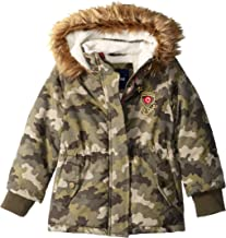 Limited Too Girls' Sueded Microfiber Heavy Anorak W/Sherpa