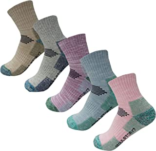 SEOULSTORY7 5pack Women Mid Cushion Low Hiking/Camping/Performance Socks