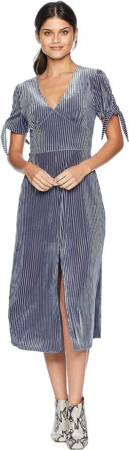 Tie Sleeve Midi Dress