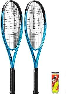 Wilson Ultra XL Tennis Racket Twin Set + 3 Tennis Balls