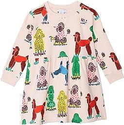 Doodle Poodle Sweatshirt Dress (Toddler/Little Kids/Big Kids)