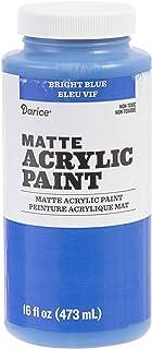 Darice Matte Bright Blue, 16 Ounces Acrylic Paint