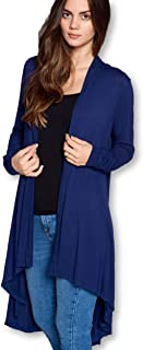 ReneeC. Women's Extra Soft Natural Bamboo Long Open Front Cardigan (S - 5XL) - Made in USA