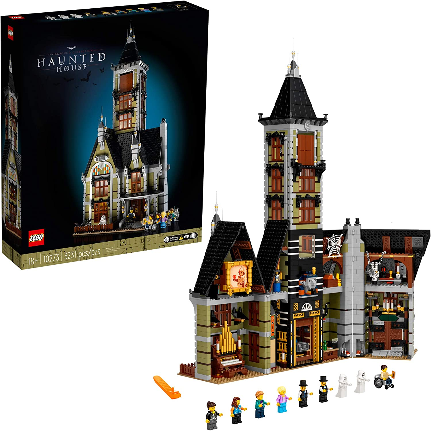 Amazon.com: LEGO Haunted House (10273) Building Kit; A Displayable Model Haunted House and a Creative DIY Project for Adults, New 2021 (3,231 Pieces): Toys & Games