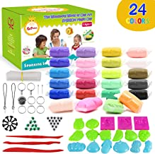 Sysrion Modeling Clay Kit – Super Light Modeling Clay Kits for Kids 24 Colors, Non-Toxic & Non-Sticky Air Dry Clay Set for Kids, Kids Clay Set, Creative DIY Arts and Crafts, Includes Clay Tools