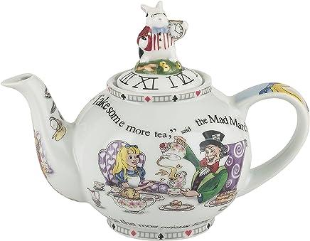 Preisvergleich für Offizielle Cardew Alice im Wunderland 18oz 2 Tasse Keramik Teekanne - Boxed Tea Party