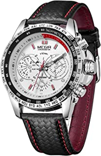 MEGIR Reloj de pulsera analógico para hombre, estilo milita