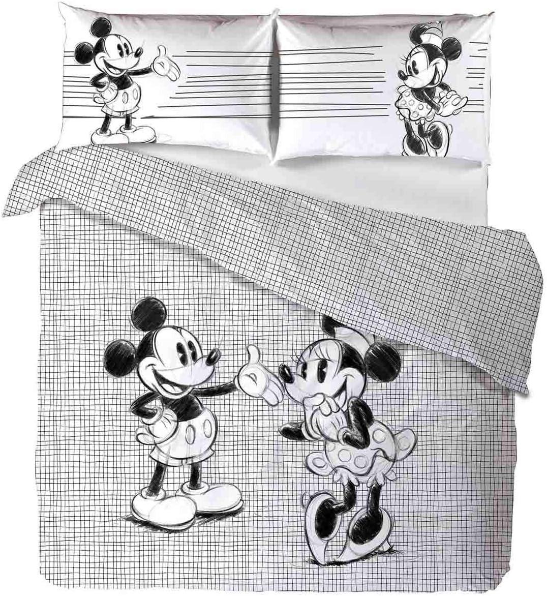 Caleffi Mickey Minnie Parure Copripiumino Cotone Unica Matrimoniale 80444 Disney Amazon It Casa E Cucina