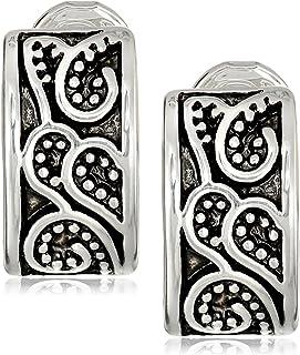 "Napier""Napier Classics"" Silver-Tone Paisley Textured Clip Earrings"