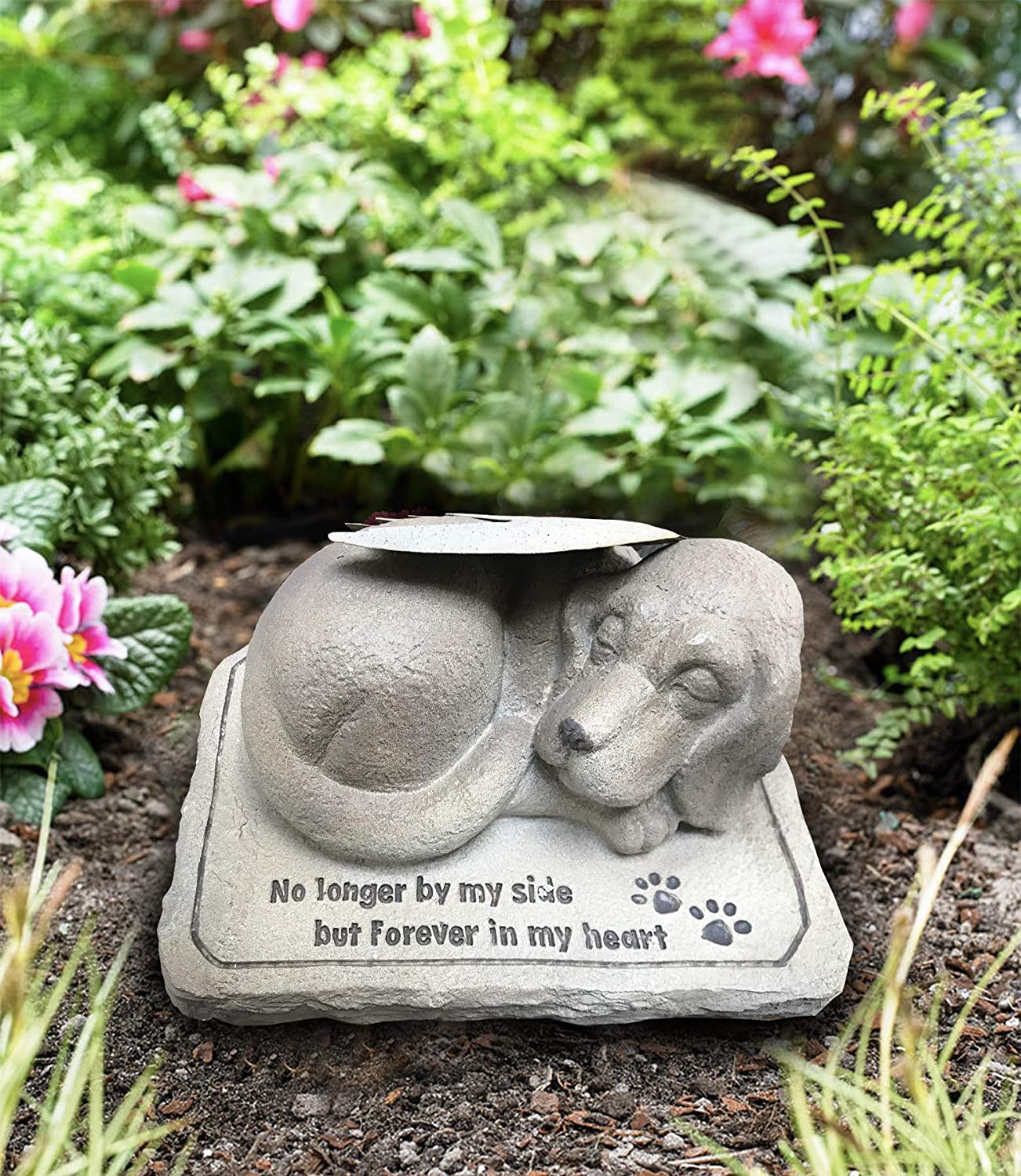 CT Store Beautiful Crafted Dog Memorial Stone with Angel Wing (Dog Memorial Stone)