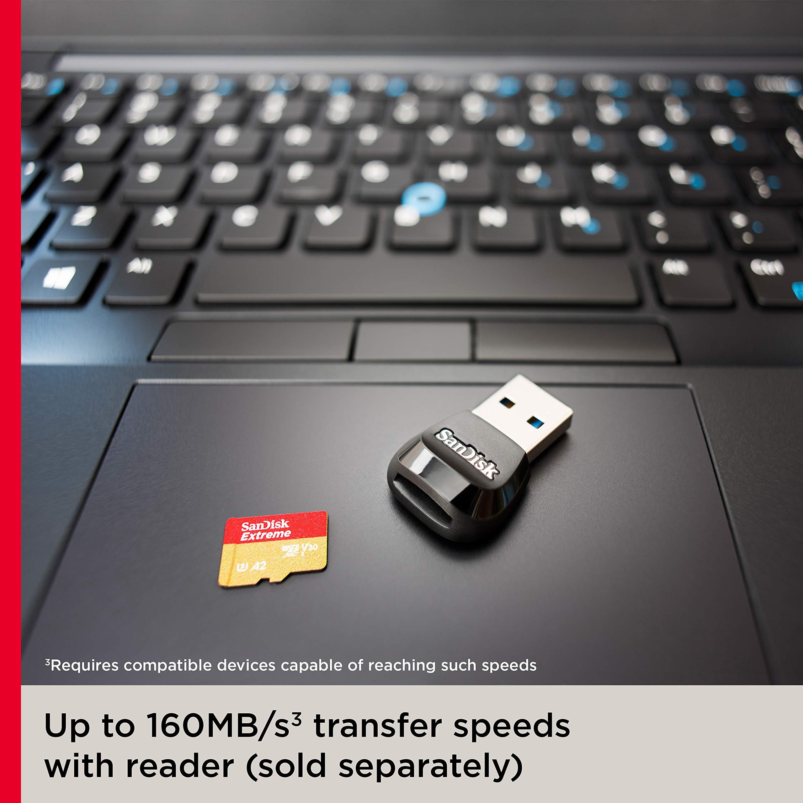 SanDisk 256GB Extreme microSD UHS-I U3 V30 A2 160MB/s- SDSQXA1-256G-GN6MN