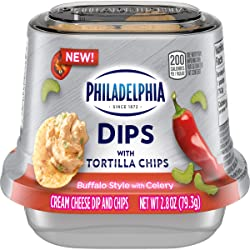 Philadelphia Dips with Tortilla Chips, Buffalo Style with Celery, 2.8oz