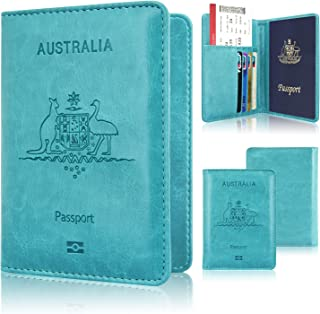 Passport Holder, ACdream Protective Premium Leather RFID Blocking Wallet Cover for Passport,