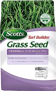 Scotts Turf Builder Grass Seed Perennial Ryegrass Mix، 7. پوند. - سایه کامل آفتاب و نور - لکه های برهنه را به سرعت ترمیم می کند ، ایده آل برای مناطق پر ترافیک و کنترل فرسایش - دانه های تا 2،900 فوت مربع