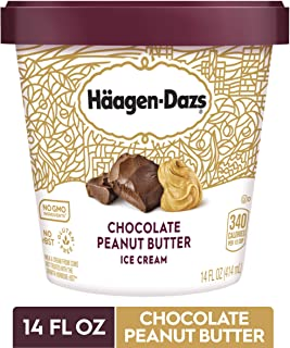 HAAGEN-DAZS Ice Cream, Chocolate Peanut Butter, 14 Fl Oz
