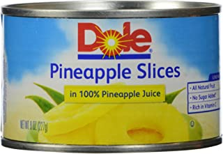 Dole, Pineapple Slices in Juice, 8 Oz