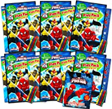 Marvel Spiderman Ultimate Party Favors Packs -- 6 Sets with Stickers, Coloring Books and Crayons (Spider-Man Party Supplies)