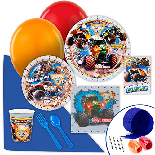Monster Truck Birthday Party Supplies Amazon Com