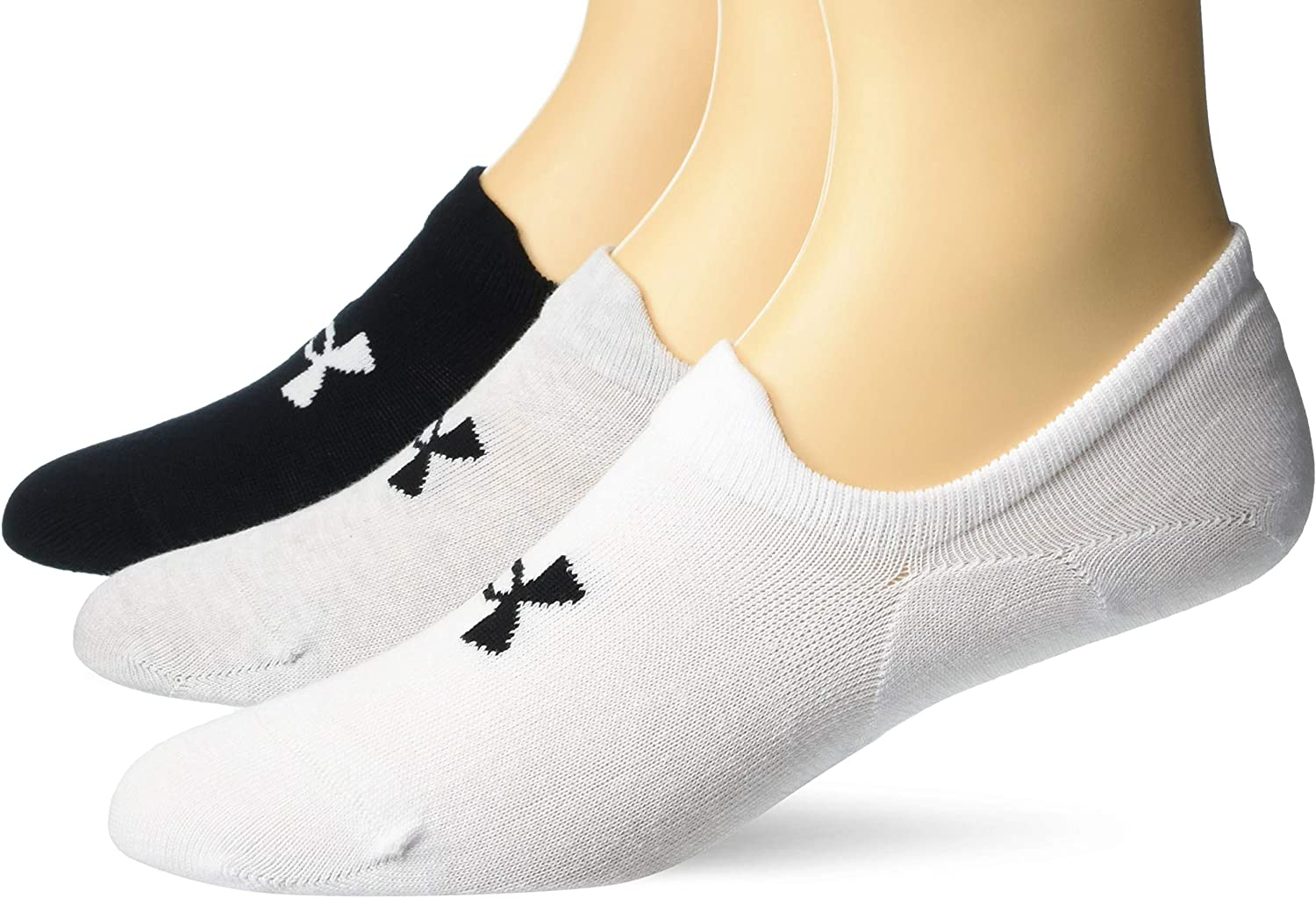 Under Armour Adult Essential Ultra Low Tab Socks, 3-Pairs