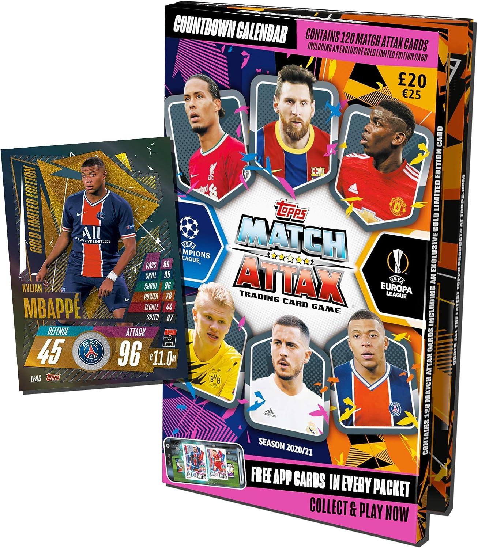 Calendrier de l'Avent 2020/2021 Topps Match Attax: Amazon.fr: Jeux
