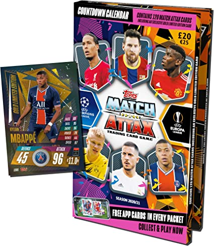 Amazon.com: Topps Match Attax 2020/2021   Football Advent Calendar