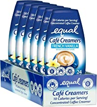 EQUAL Café Coffee Creamers French Vanilla, Low-Calorie Coffee Creamer, 1.62 Ounce (Pack of 6)