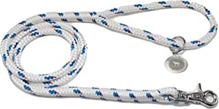 Nautical Mutts Rope Dog Leash - Marine Rope with Stainless Steel Clip - Perfect for use on Boats, Water, Beach, Camping, Walks, Running - Strong, Durable, Comfortable Spliced Loops – Handmade in USA