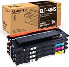 STAROVER 4X CLT-404S (CLT-K404S CLT-C404S CLT-M404S CLT-Y404S) Cartuchos De Tóner Compatible para Samsung Xpress Samsung Xpress C480 C480W C480FN C480FW C430 C430W(1Negro,1Cian,1Magenta,1Amarillo)