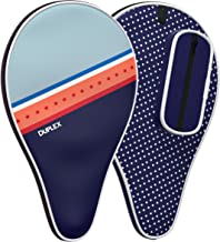 Duplex   Ping Pong Paddle Case - Best Table Tennis Paddle Cover for Blade with Bonus Ball Storage - Waterproof Material Bag