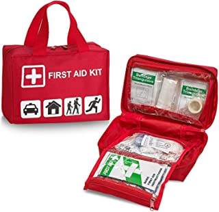 First Aid Kit - 96 Piece Compact Lightweight Portable Safety Trauma Bag Emergency Survival Kit Gear Home and Provide Immed...