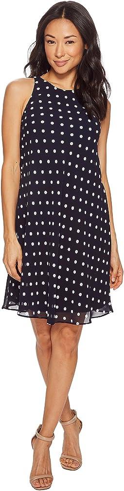 LAUREN Ralph Lauren - Petite Geminah Classy Dot Georgette Dress