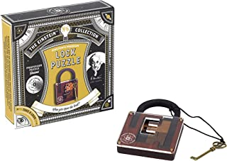 The Einstein Collection Lock Puzzle - Tricky padlock brain game - Professor Puzzle 3D Brain Teaser Puzzles.
